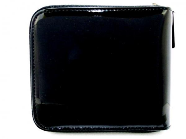 クリスチャンルブタン 2つ折り財布 黒×マルチ エナメル(レザー) 2