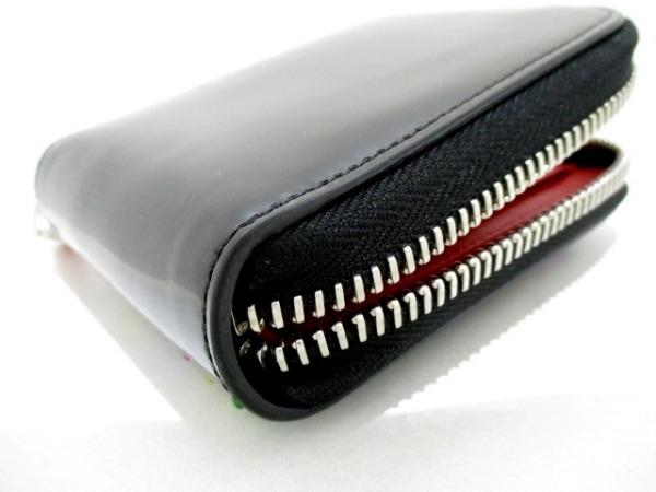クリスチャンルブタン 2つ折り財布 黒×マルチ エナメル(レザー) 7