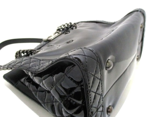 シャネル トートバッグ ボーイシャネル 黒 エナメル(レザー) 8