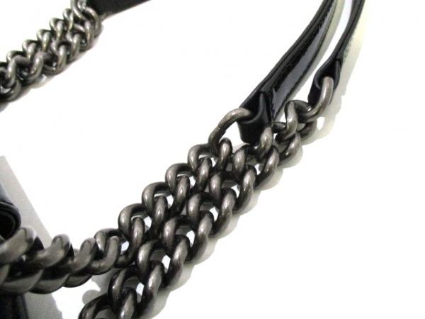 シャネル トートバッグ ボーイシャネル 黒 エナメル(レザー) 9