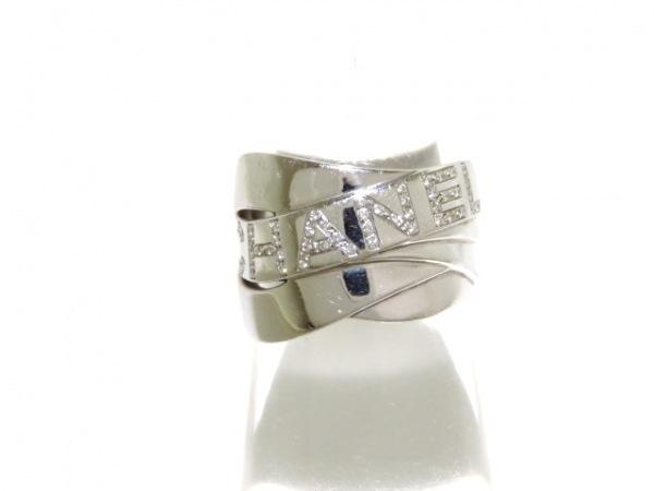 シャネル リング美品  ボルデュックリング K18WG×ダイヤモンド 0