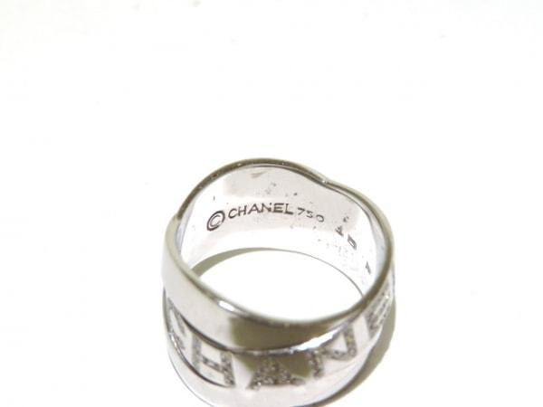 シャネル リング美品  ボルデュックリング K18WG×ダイヤモンド 4