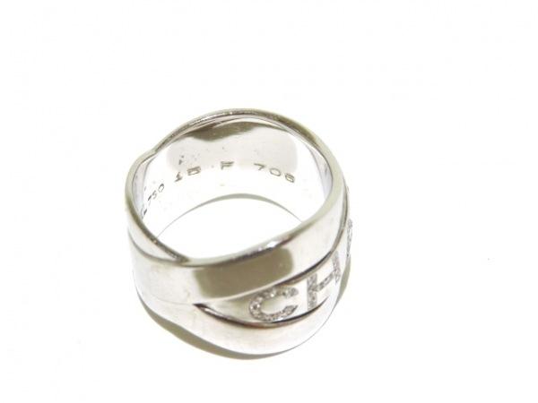 シャネル リング美品  ボルデュックリング K18WG×ダイヤモンド 5