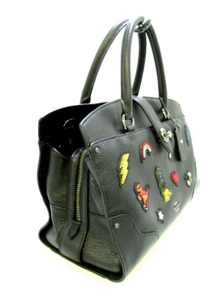 COACH(コーチ) ハンドバッグ美品  57078 黒 レザー 2