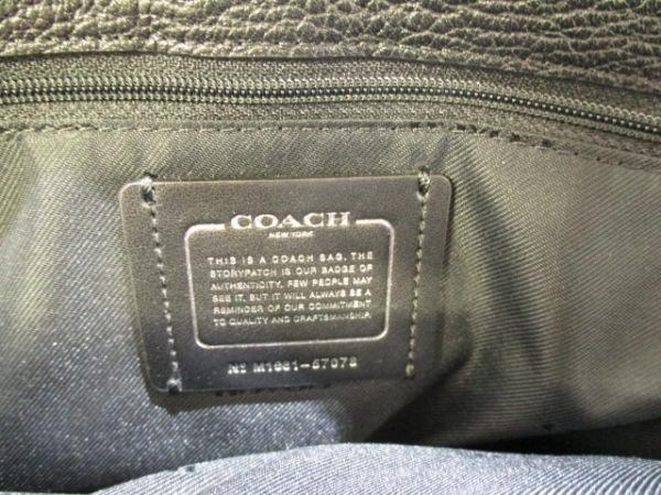 COACH(コーチ) ハンドバッグ美品  57078 黒 レザー 6