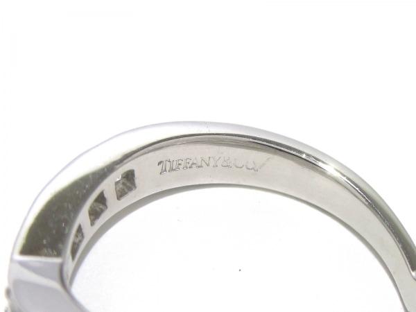 ティファニー リング美品  Vバンドリング Pt950×ダイヤモンド 5