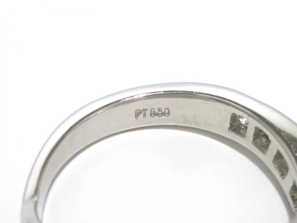 ティファニー リング美品  Vバンドリング Pt950×ダイヤモンド 6