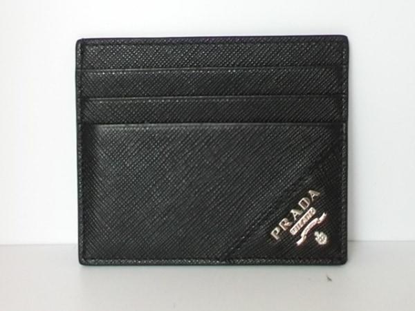 PRADA(プラダ) カードケース - 黒 サフィアーノレザー 0