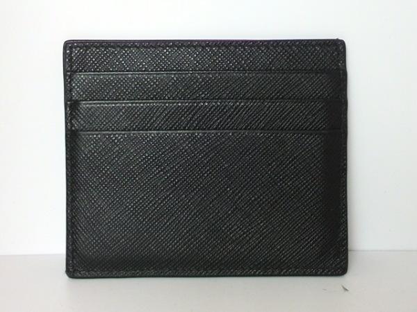 PRADA(プラダ) カードケース - 黒 サフィアーノレザー 2