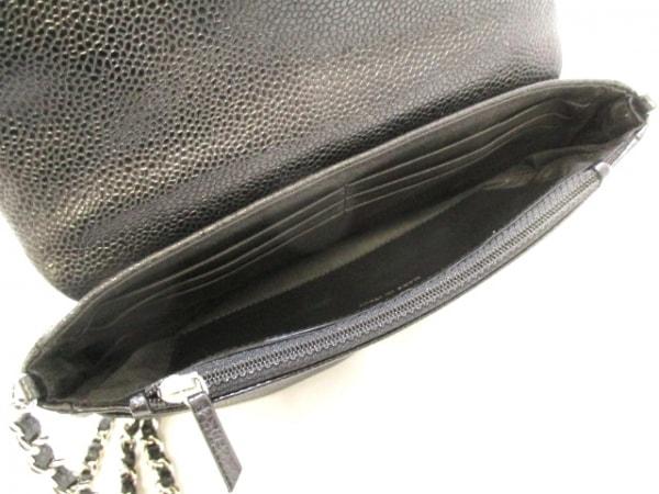 CHANEL(シャネル) 財布美品  ハーフムーン A40033 黒 キャビアスキン 3