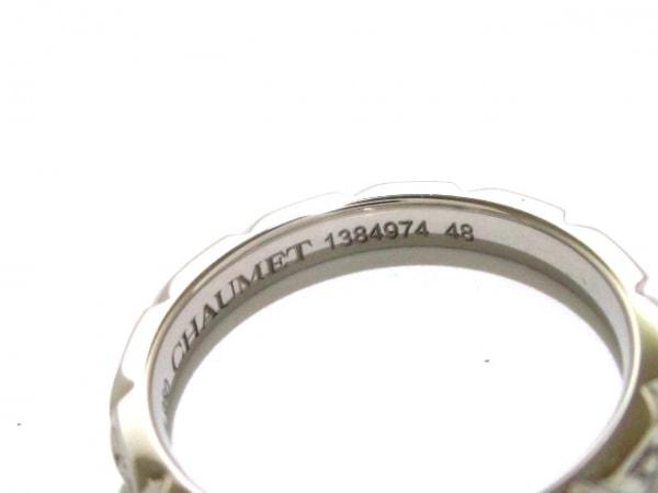 ショーメ リング 48新品同様  トルサードリング Pt950×ダイヤモンド 4