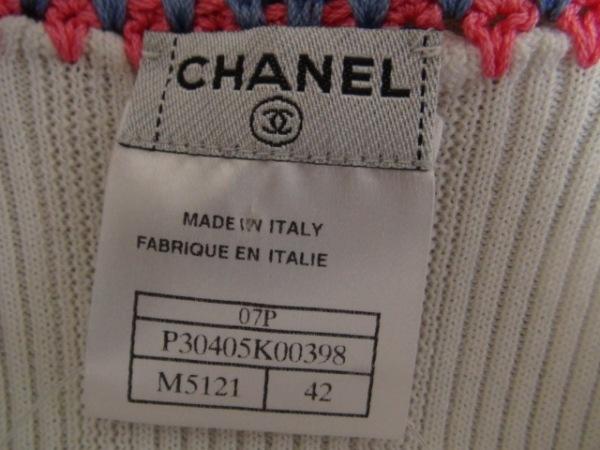 シャネル ノースリーブカットソー サイズ42 L レディース美品  刺繍 3