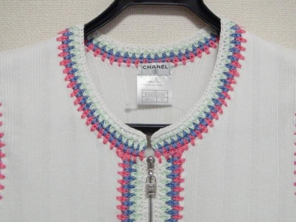 シャネル ノースリーブカットソー サイズ42 L レディース美品  刺繍 5