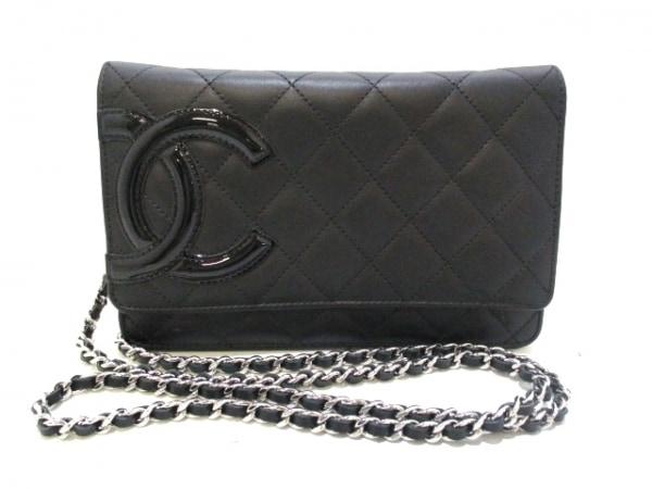 CHANEL(シャネル) 財布美品  カンボンライン A46646 黒 0