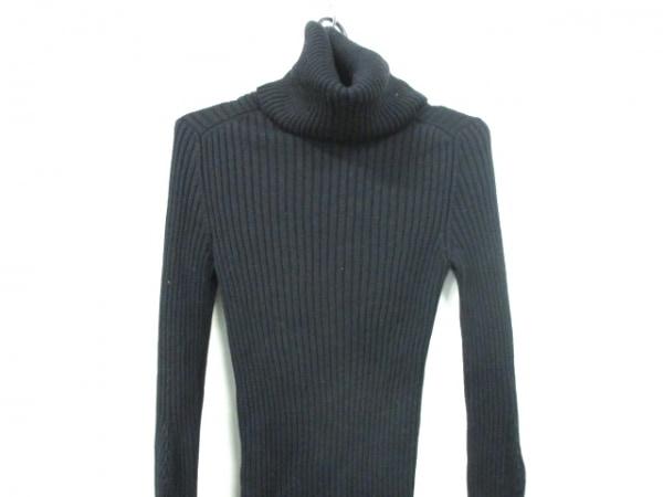 シャネル 長袖セーター サイズ38 M レディース 黒 タートルネック 0