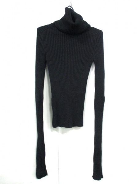 シャネル 長袖セーター サイズ38 M レディース 黒 タートルネック 2