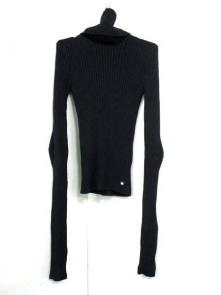 シャネル 長袖セーター サイズ38 M レディース 黒 タートルネック 3