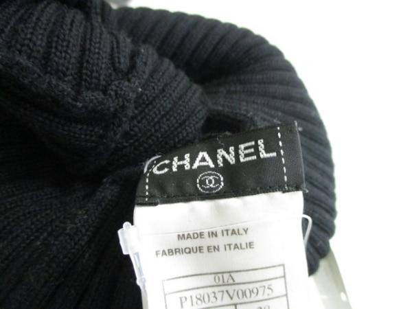 シャネル 長袖セーター サイズ38 M レディース 黒 タートルネック 4
