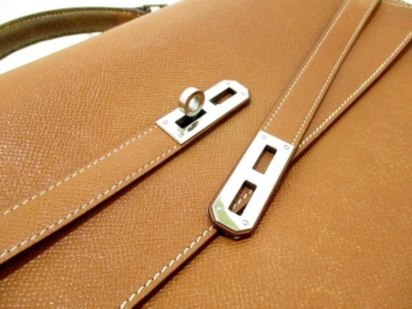 エルメス ビジネスバッグ ケリーデペッシュ38 ゴールド シルバー金具 9