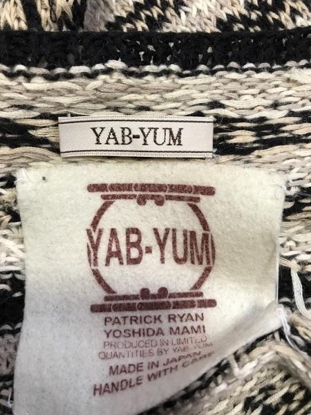 YAB-YUM(ヤブヤム) キャミソール レディース 黒×ベージュ×マルチ 3