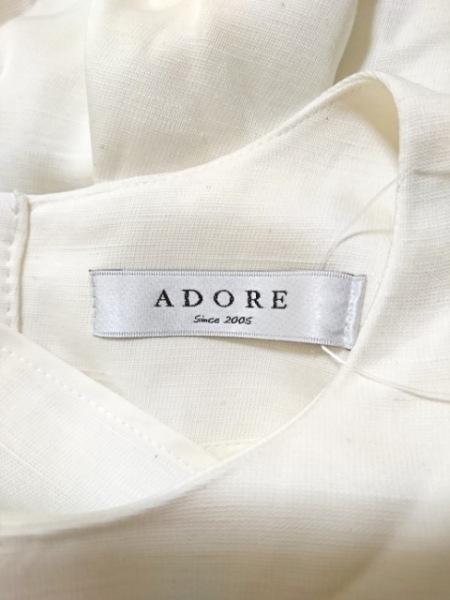 ADORE(アドーア) 半袖カットソー サイズ38 M レディース美品  白 3