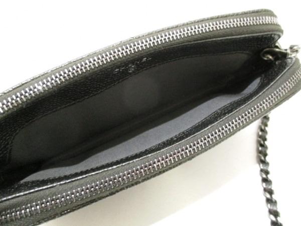 シャネル 財布美品  マトラッセ A82527 ダークグレー キャビアスキン 3