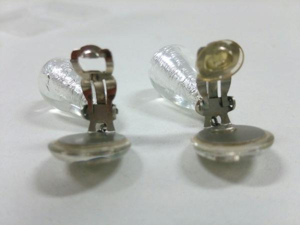 シャネル イヤリング 金属素材×プラスチック シルバー×クリア 3