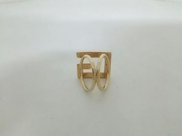 GUCCI(グッチ) スカーフリング美品  - 金属素材 ゴールド 2