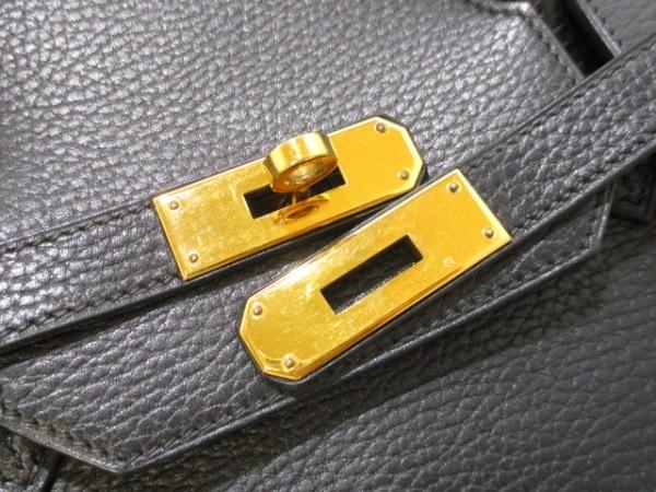 エルメス ハンドバッグ バーキン40 黒 ゴールド金具 アルデンヌ 3