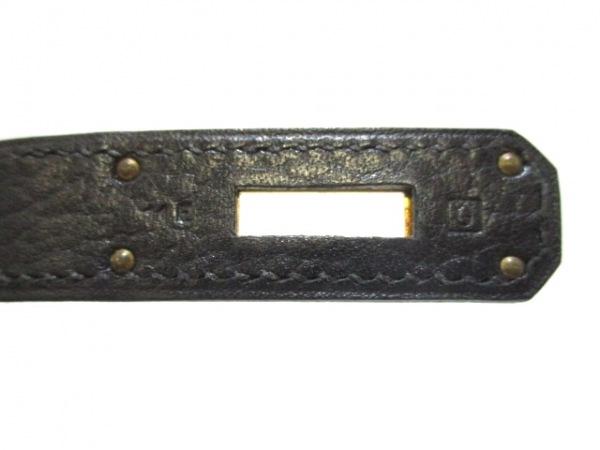 エルメス ハンドバッグ バーキン40 黒 ゴールド金具 アルデンヌ 4