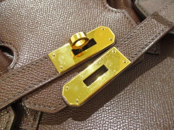 HERMES(エルメス) ハンドバッグ バーキン35 マロン ゴールド金具 3