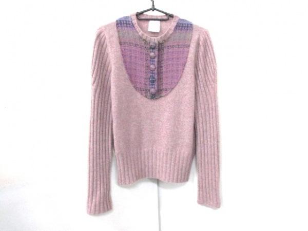 シャネル 長袖セーター サイズ42 L レディース美品  カシミヤ 0