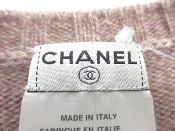 シャネル 長袖セーター サイズ42 L レディース美品  カシミヤ 3