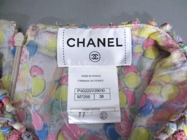 シャネル ワンピース サイズ38 M レディース美品  シルク/ラメ 4
