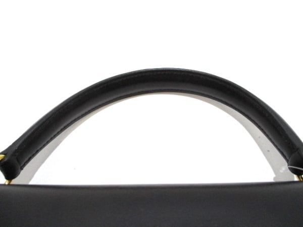 エルメス ハンドバッグ美品  ケリー32 黒 外縫い/ゴールド金具 5