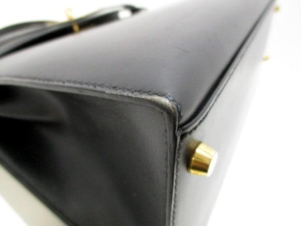 エルメス ハンドバッグ美品  ケリー32 黒 外縫い/ゴールド金具 6