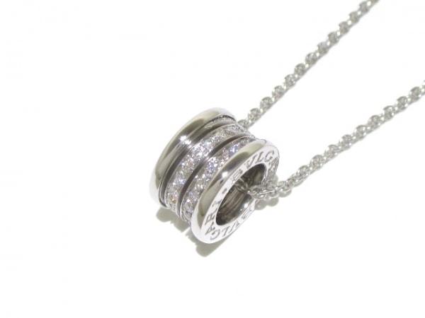 ブルガリ ネックレス美品  B-zero1 K18WG×ダイヤモンド 旧型 0