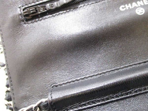 CHANEL(シャネル) 財布 マトラッセ A33814 黒 ラムスキン 6
