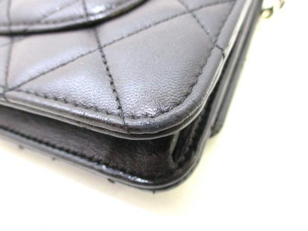 CHANEL(シャネル) 財布 マトラッセ A33814 黒 ラムスキン 7
