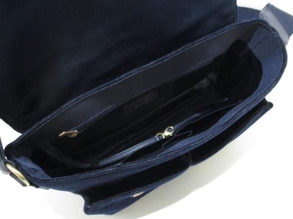 シャネル ショルダーバッグ美品  マトラッセ A91821 ネイビーブルー 5