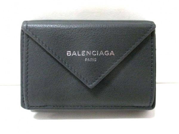 バレンシアガ 3つ折り財布 ペーパーミニウォレット 391446 レザー 0