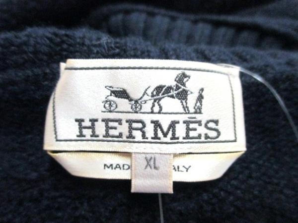 エルメス 長袖セーター サイズXL メンズ美品  ダークネイビー 3