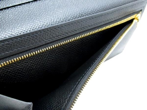 エルメス 長財布美品  ベアンスフレ 黒 ゴールド金具 ヴォーエプソン 4