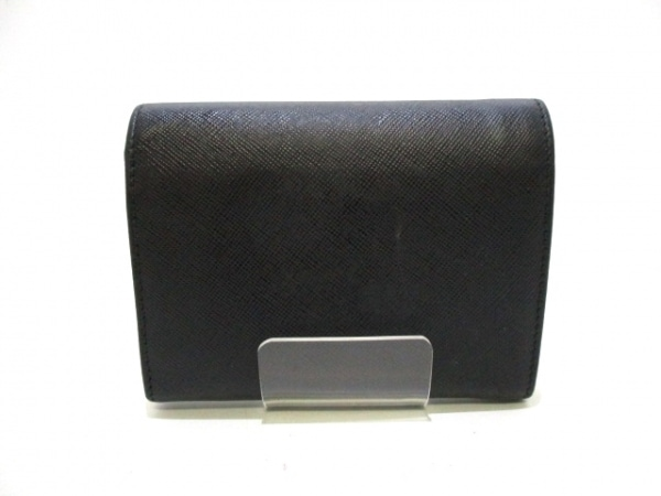 PRADA(プラダ) 3つ折り財布 - 黒 リボン レザー 2