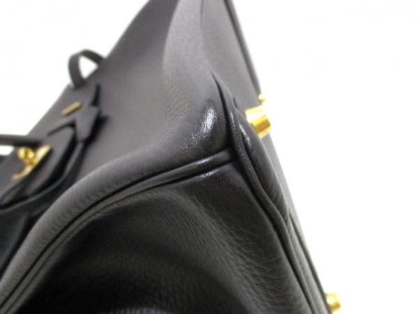 エルメス ハンドバッグ美品  バーキン35 黒 ゴールド金具 アルデンヌ 6