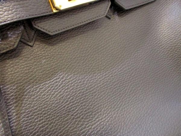 エルメス ハンドバッグ美品  バーキン35 黒 ゴールド金具 アルデンヌ 7