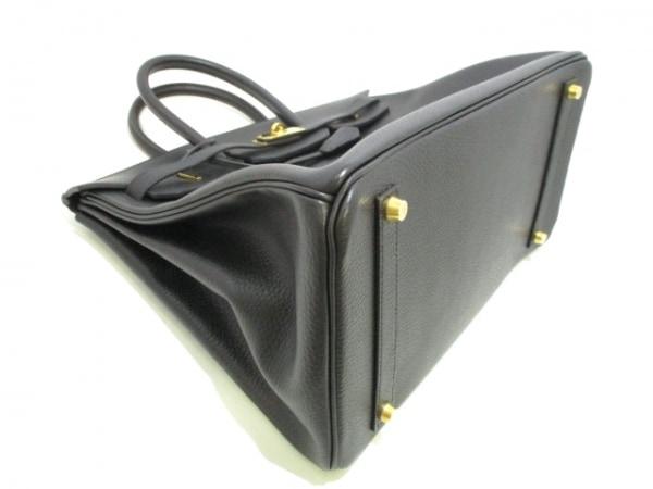 エルメス ハンドバッグ美品  バーキン35 黒 ゴールド金具 アルデンヌ 8