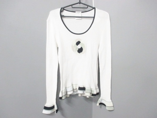 シャネル 長袖セーター サイズ44 L レディース 白×黒×マルチ 0
