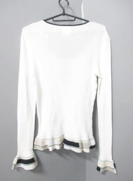 シャネル 長袖セーター サイズ44 L レディース 白×黒×マルチ 2