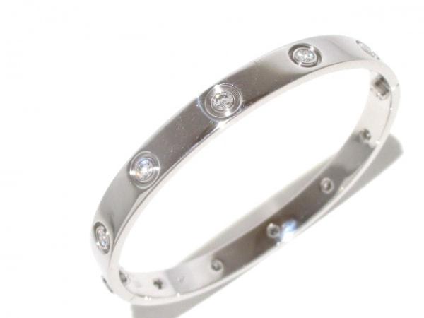 カルティエ バングル ラブブレスフルダイヤ K18WG×ダイヤモンド 7